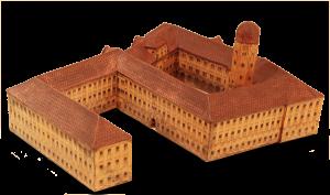 Altes Schloss, Bayreuth. Modell von Johann Adam Riediger. Vor dem Brand 1753. (Historisches Museum, Bayreuth).